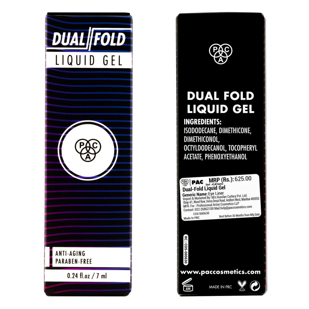 PAC Cosmetics Dual-Fold Liquid Gel EYLN_DUFOLDGEL EYES