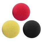 PAC Cosmetics Mini Sponge Set (Ball) (Black, Red, Yellow) (3 Pc)