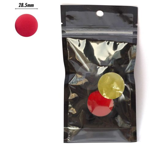 PAC Cosmetics Mini Sponge Set (Ball) (Black, Red, Yellow) (3 Pc)