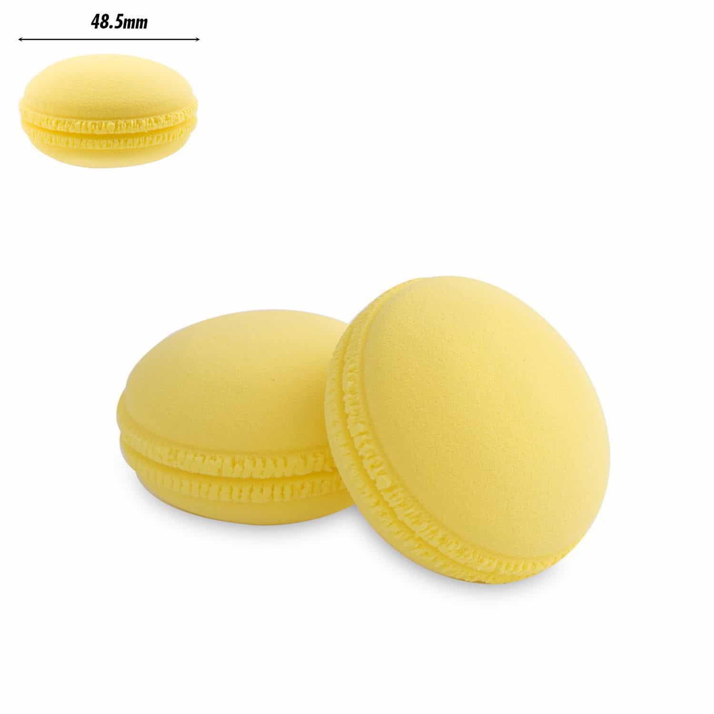 PAC Cosmetics Mini Sponge Set (Macaron) (Yellow) (2 Pc)