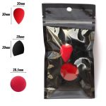 PAC Cosmetics Mini Sponge Set (Water Drop, Egg, Olive Cut) (Red, Black) (4 Pc)
