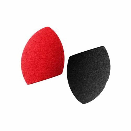 PAC Cosmetics Mini Sponge Set (Olive Cut) (Black, Red) (2 Pc)