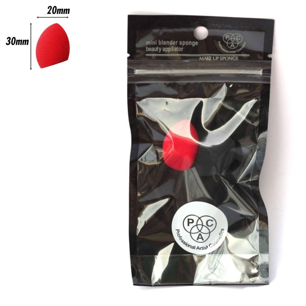 PAC Cosmetics Mini Sponge Set (Olive Cut) (Black, Red) (2 Pc)