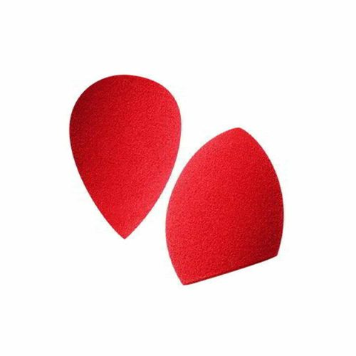 PAC Cosmetics Mini Sponge Set (Water Drop, Olive Cut) (Red) (2 Pc)
