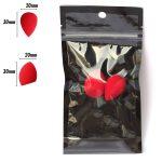 PAC Cosmetics Mini Sponge Set (Water Drop, Olive Cut) (Red) (2 Pc)