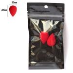 PAC Cosmetics Mini Sponge Set (Water Drop) (Red) (2 Pc)