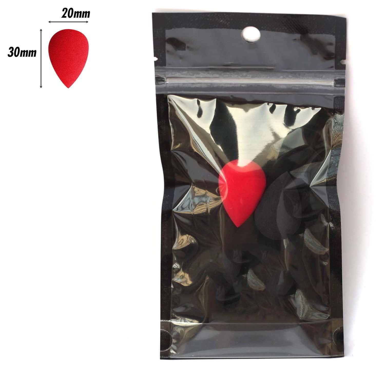 PAC Cosmetics Mini Sponge Set (Water Drop) (Black, Red) (2 Pc)