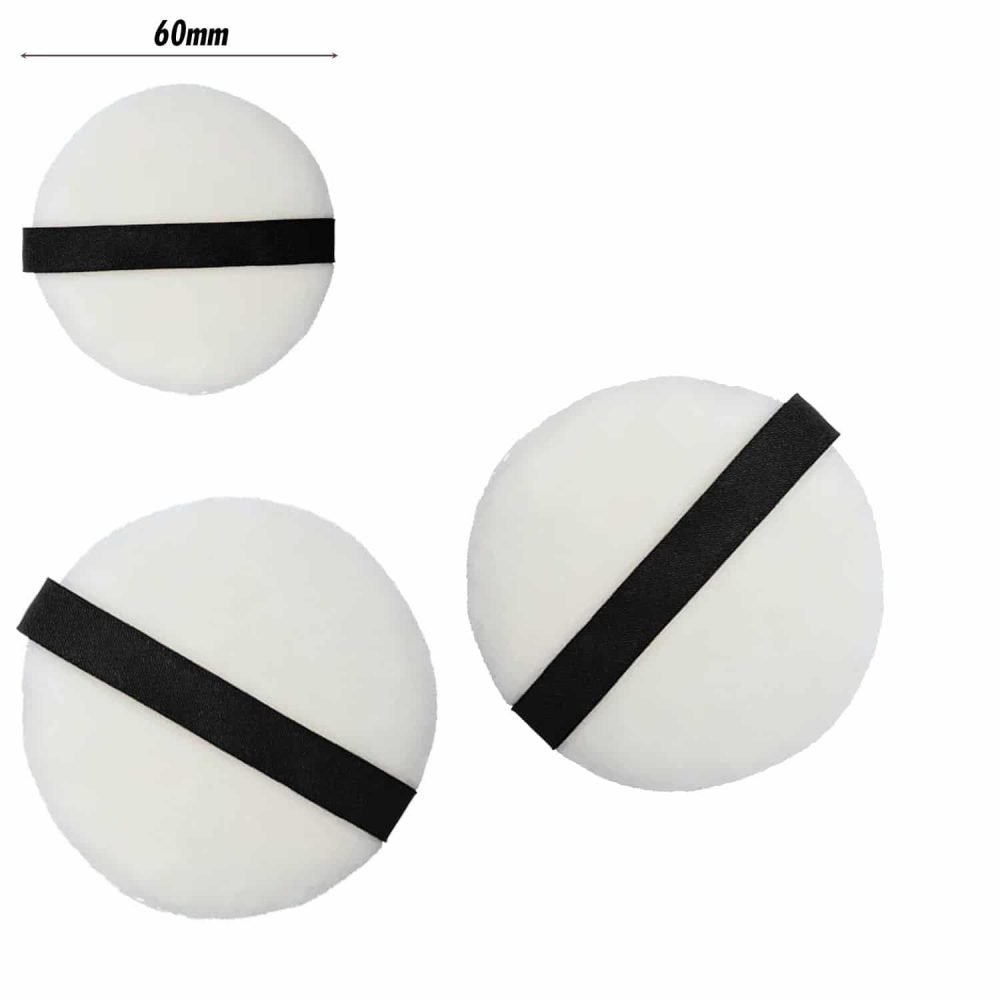 PAC Cosmetics Medium Cotton Puff (Round) (White) (2 Pc)