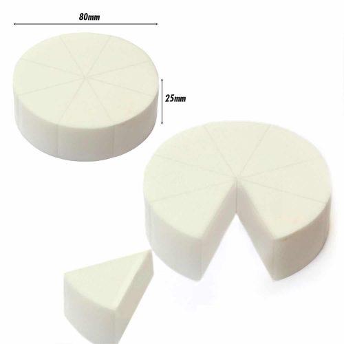 Pressed Sponge (Triangle Pie) (White) (8 Pc)