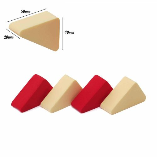 Pressed Sponge (Triangle) (Red, Cream) (4 Pc)