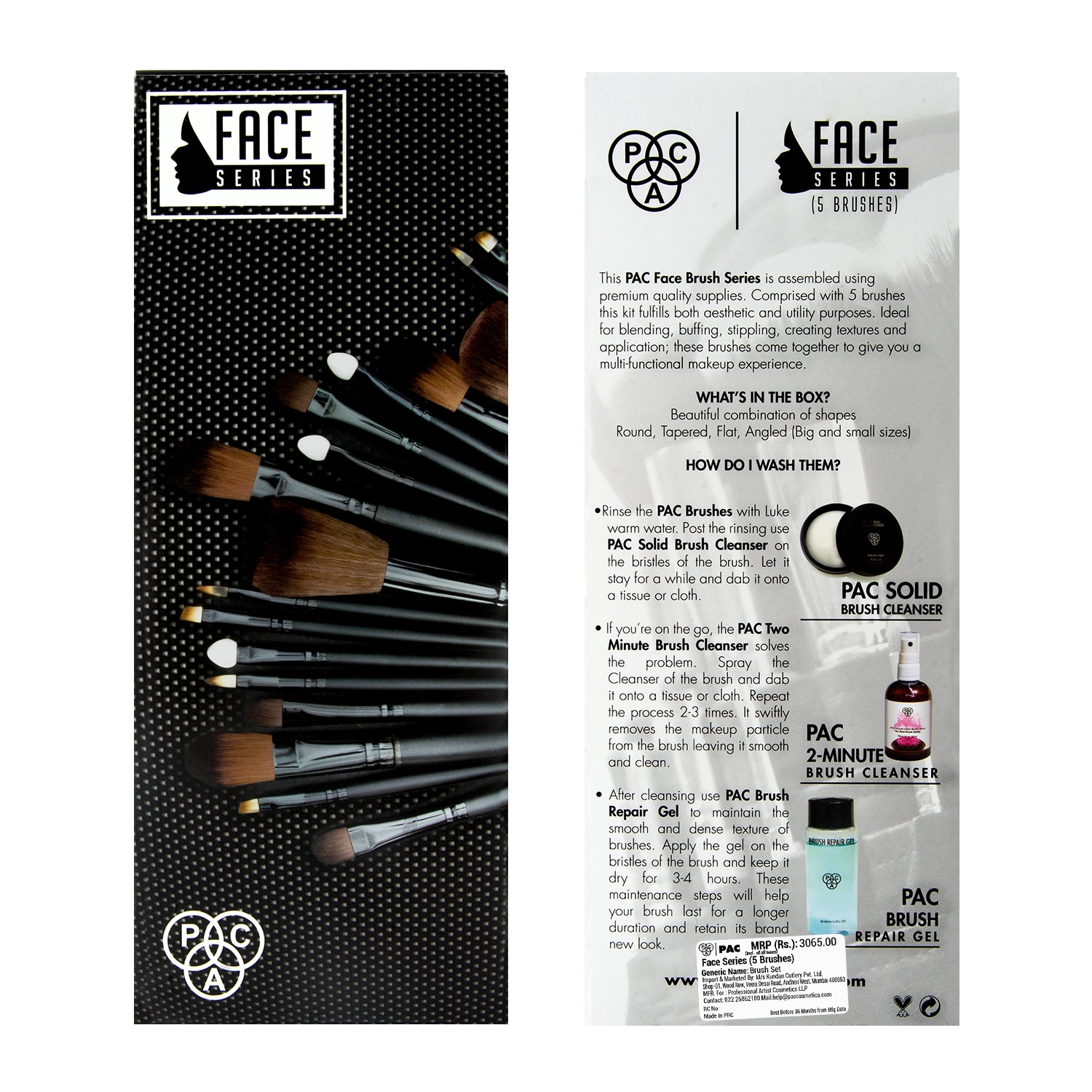 Face Series 5 Brushes Pac Cosmetics