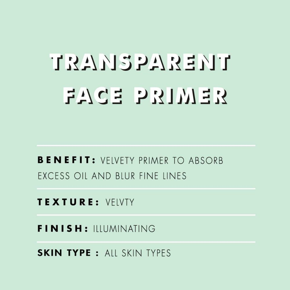 PAC Cosmetics Transparent Primer FCPM_TRNS