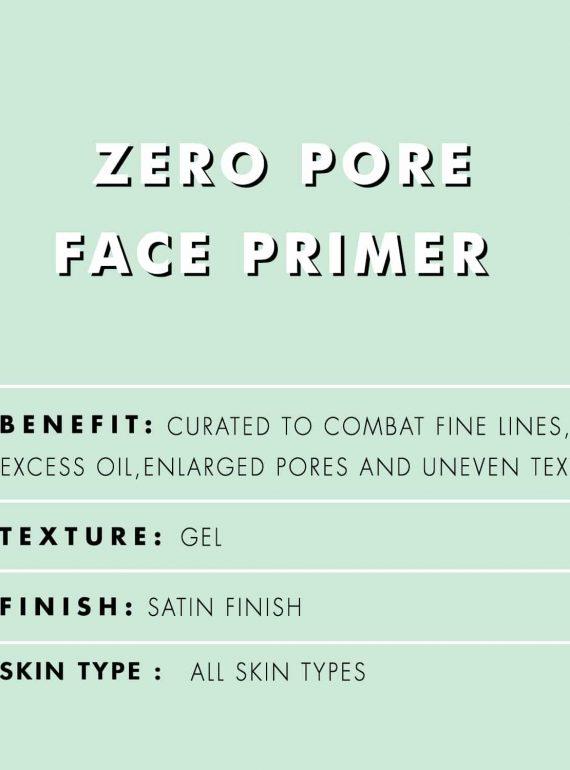 PAC Cosmetics Zero Pore Primer FCPM_ZEROPORE