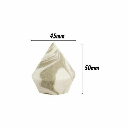 Diamond Sponge (Diamond) (Dark Grey +White) (1 Pc)