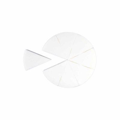 PAC Cosmetics Pressed Sponge (Triangle Pie) (White) (8 Pc) SPPS_PIE_W8 FACE