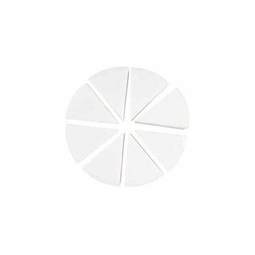 PAC Cosmetics Pressed Sponge (Triangle Pie) (White) (8 Pc) SPPS_PIE_W8 FACE