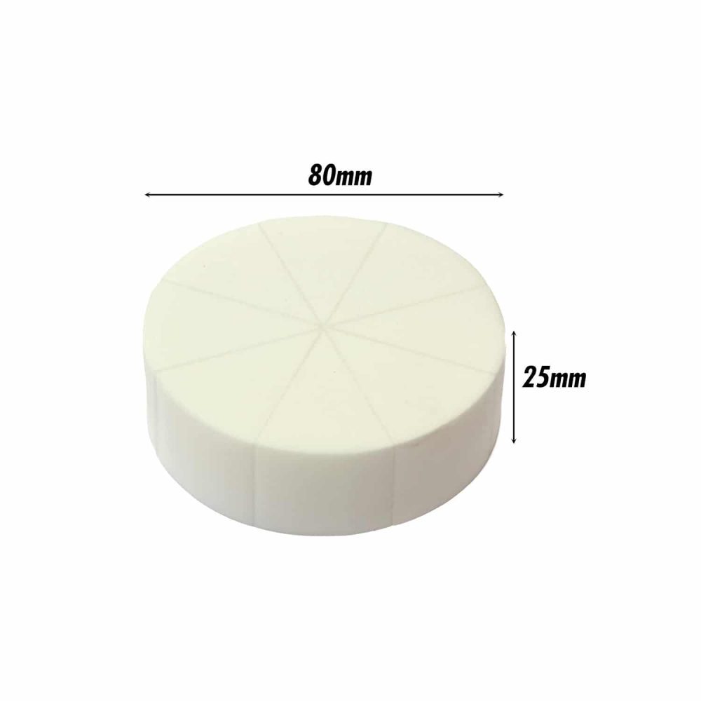 Pressed Sponge (Triangle Pie) (White) (8 Pc)