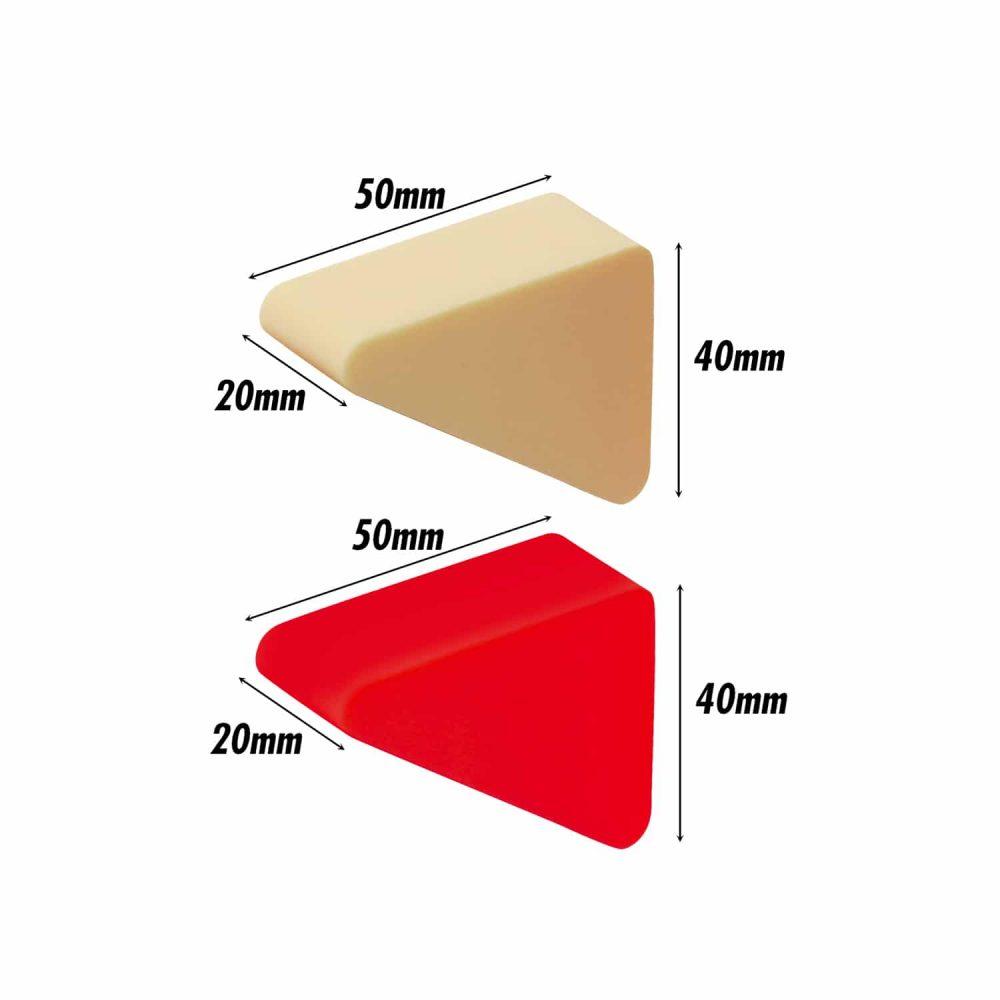 Pressed Sponge (Triangle) (Red, Cream) (4 Pc)