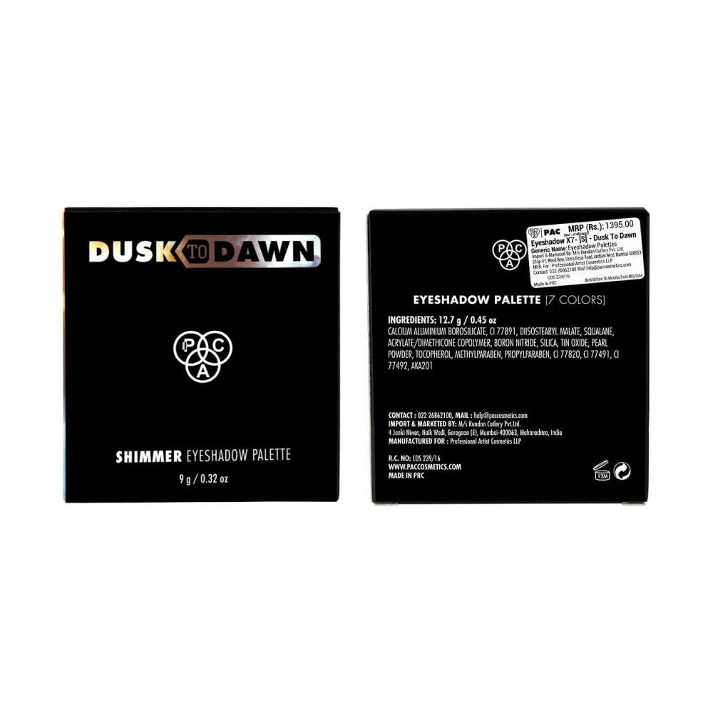 PAC Cosmetics Eyeshadow X7, [S] - Dusk To Dawn EYPL_7XS01 EYES
