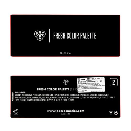 PAC Cosmetics Fresh Color Eyeshadow X12 - 02 EYPL_FRSH12X02 EYES